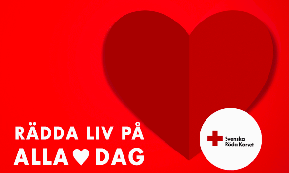 Red Cross Rädda Liv på Alla Hjärtans Dag campaign, Svenska Röda Korset